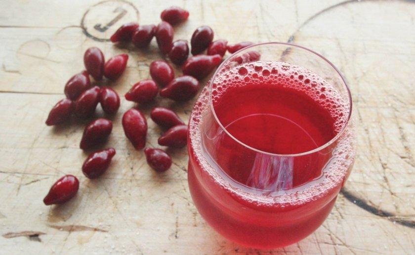 Сок из плодов кизила