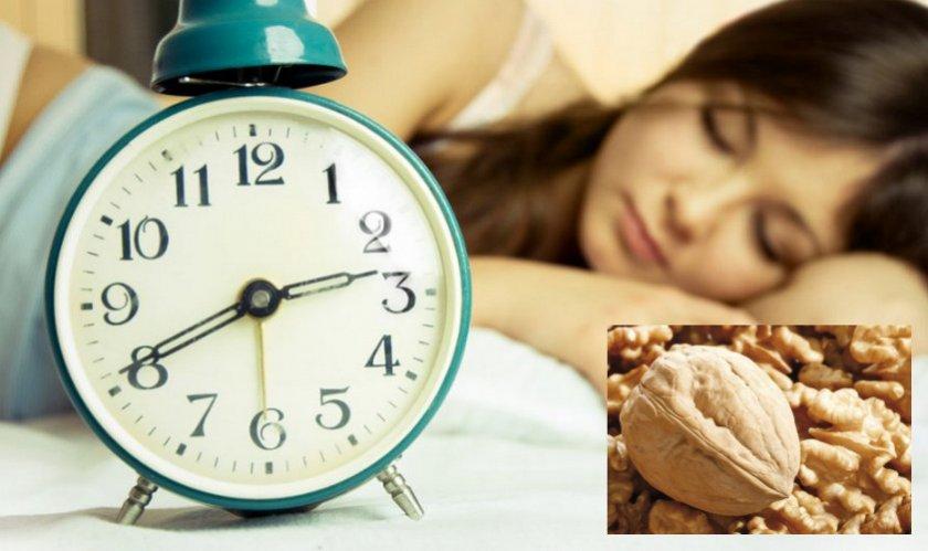 Грецкий орех для нормализации сна