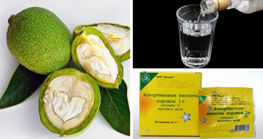 Ингредиенты для приготовления настойки