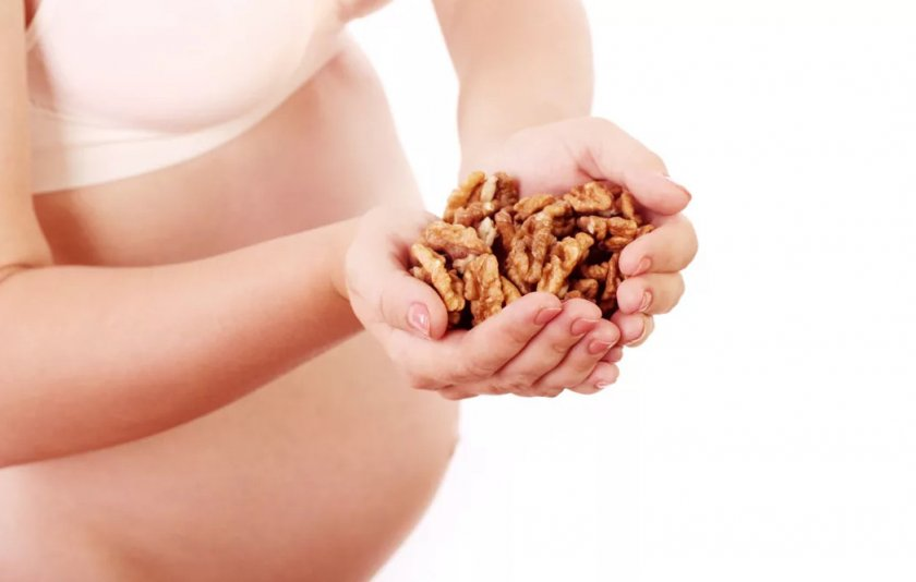 Грецкие орехи при беремености