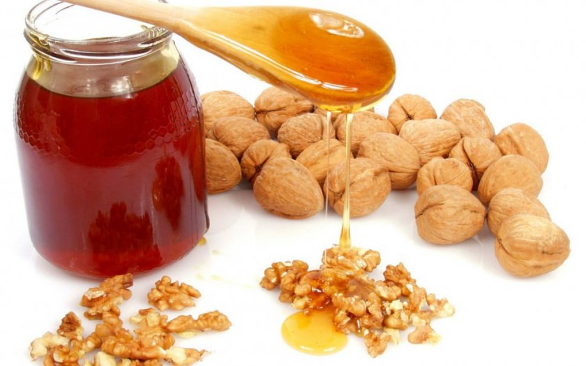 Полезные свойства грецких орехов с мёдом