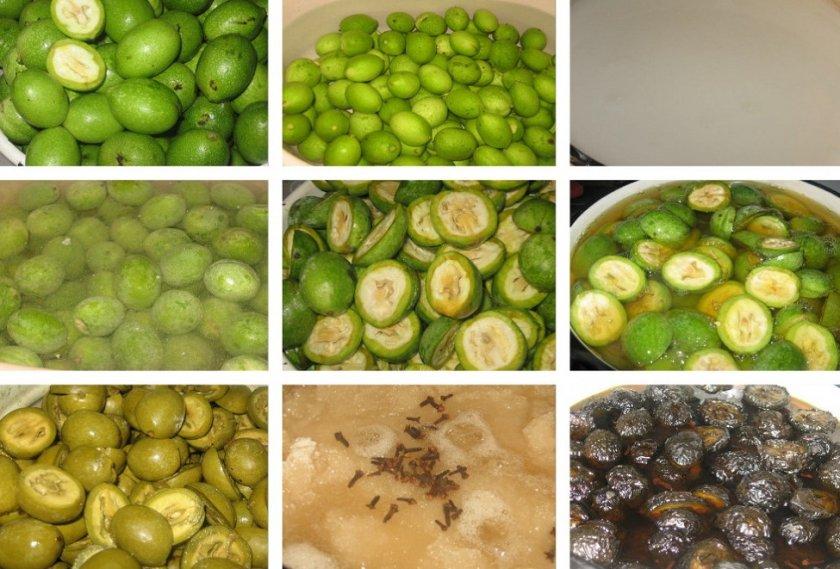 Приготовление варенья из грецких орехов