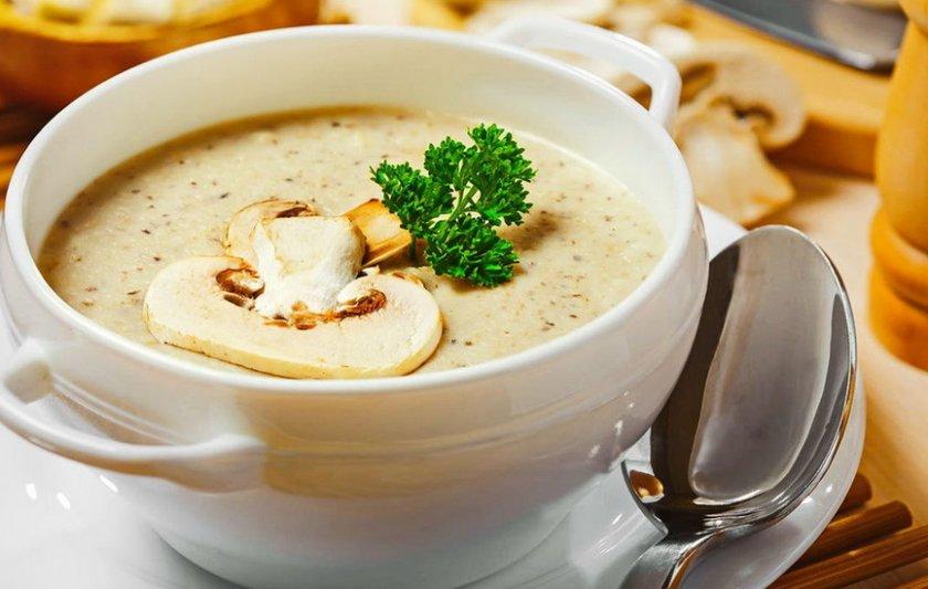 Суп из белых грибов со сливками
