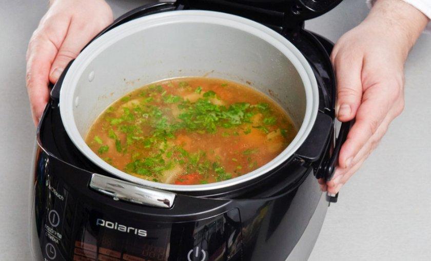 Приготовление супа в мультиварке