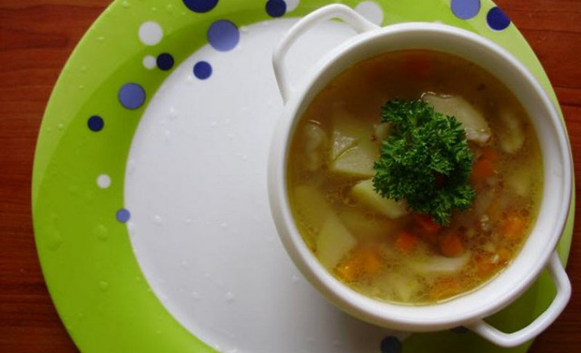 Суп с вешенкой и гречкой