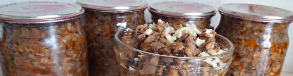 Икра из опят — лучшие рецепты: с луком и морковью, через мясорубку, из замороженных, без стерилизации