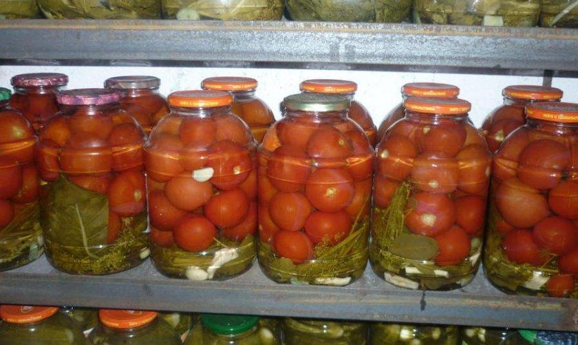 Хранение маринованных томатов
