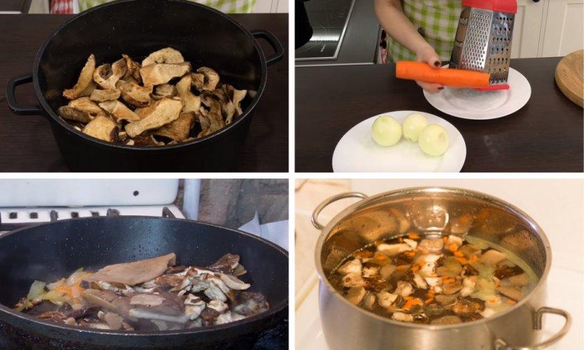 Как варить суп из сухих грибов- ингредиенты, рецепты, советы по приготовлению