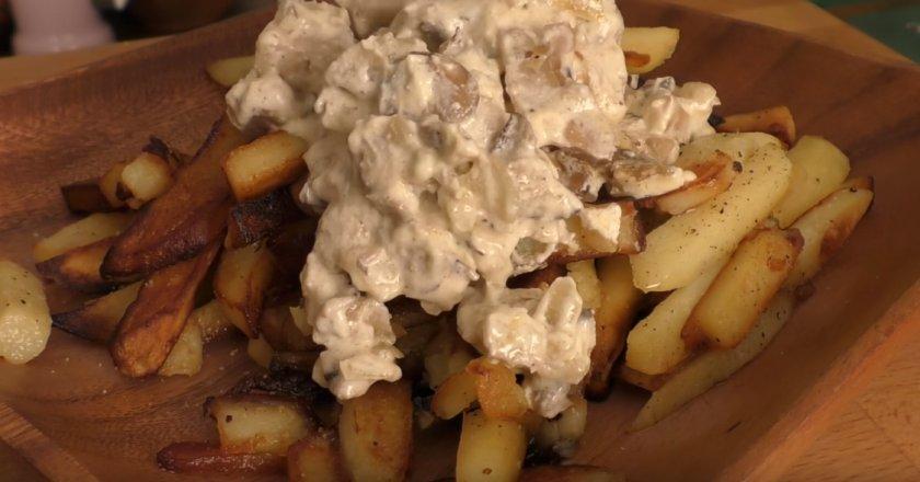 Вешенки с картошкой жареные рецепт с фото пошагово