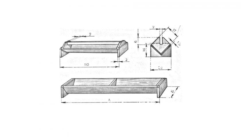 Схема деревянной кормушки