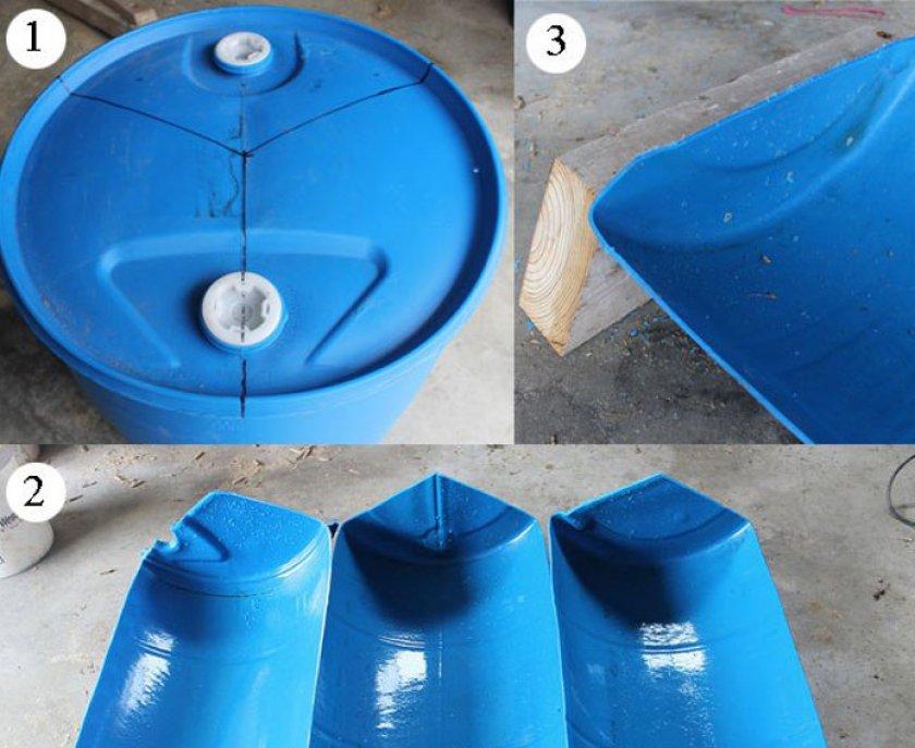 Кормушка из пластиковой бочки