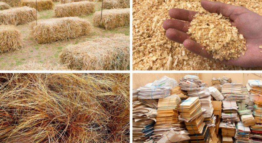 Агроотходы для выращивания вешенок