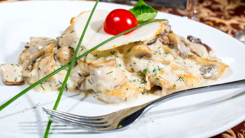 Белые грибы с картошкой на сковороде
