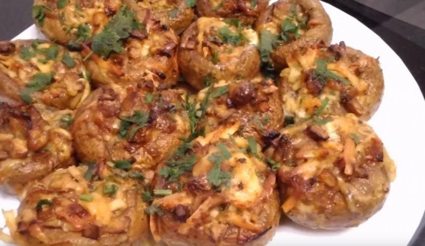Грибы шампиньоны запечённые в духовке целиком, самый простой рецепт, маринад, как запечь и сколько готовить