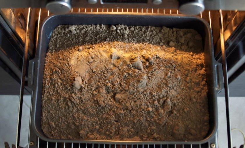Прокаливание грунта для посадки черенков