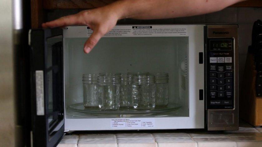 Стерилизация тары в микроволновке