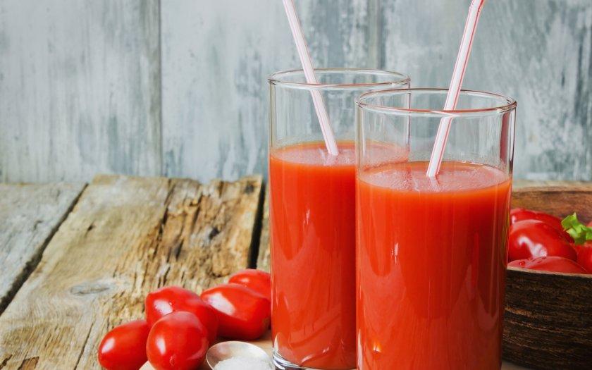 Польза томатного сока для печени
