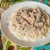 Паста из шампиньонов со сливками для спагетти