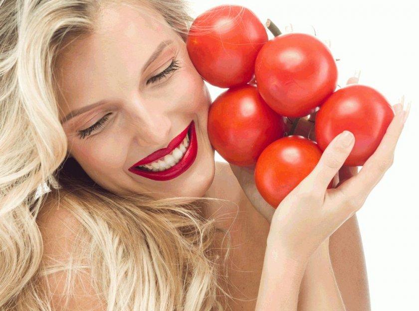 Польза помидор для женщин
