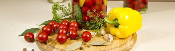 Как закатать помидоры черри