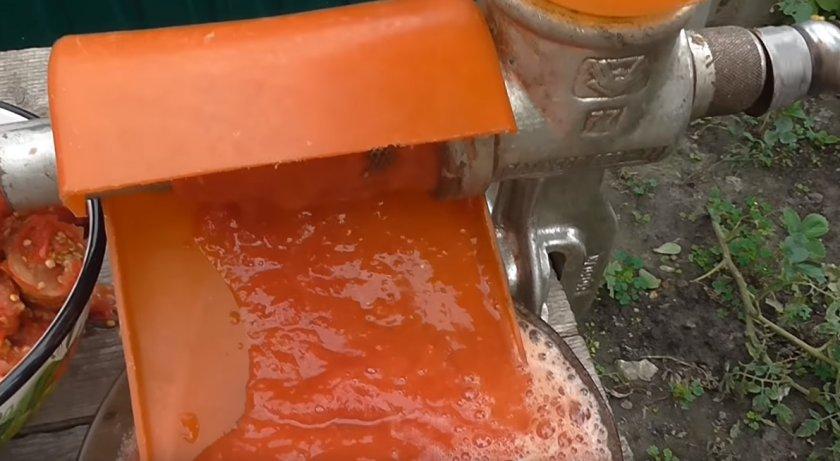 Заморозка томатного пюре