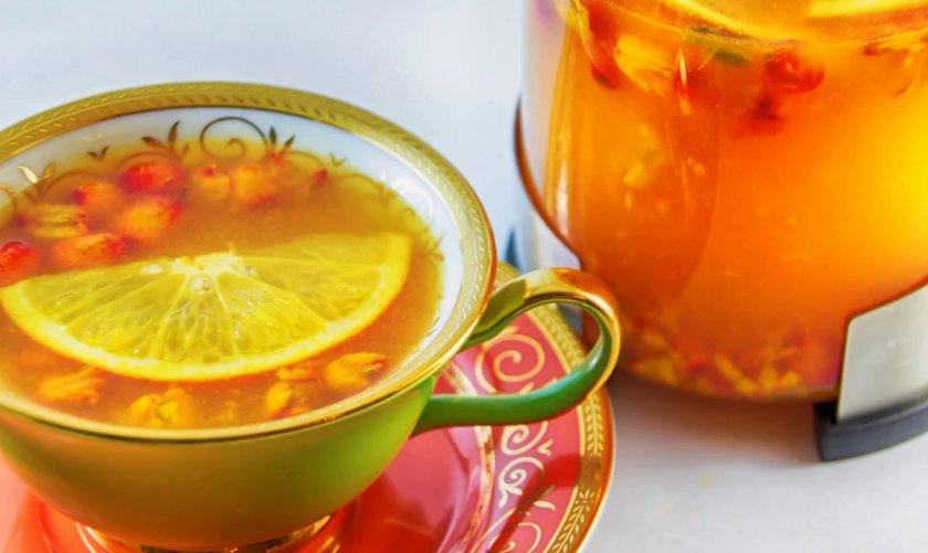 Чай из ягод облепихи