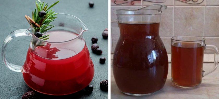 Безалкогольные напитки из ягод можжевельника