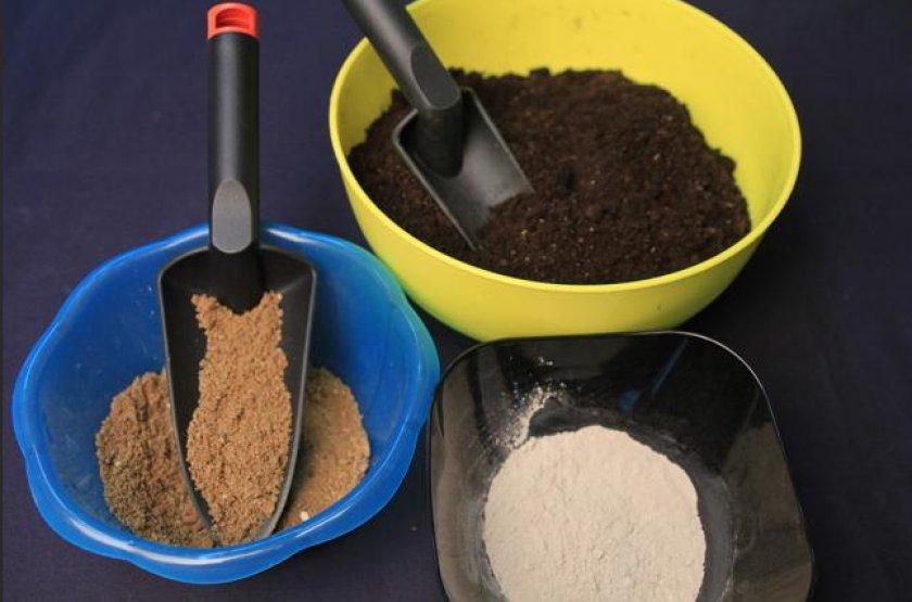Земля, торф, песок