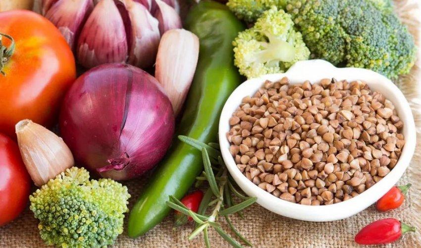 Гречка и овощи