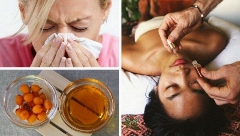 Использование облепихового масла при болезнях носа