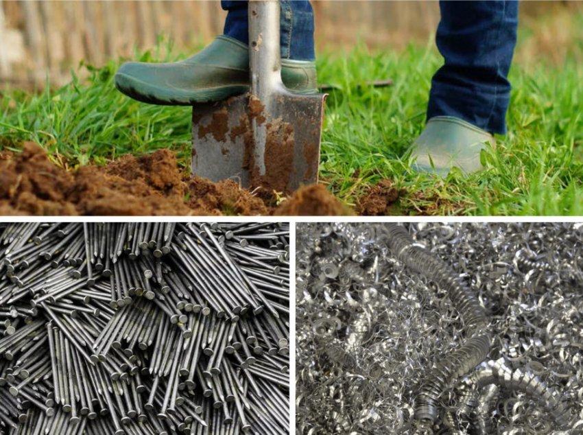 Добавление металла в почву