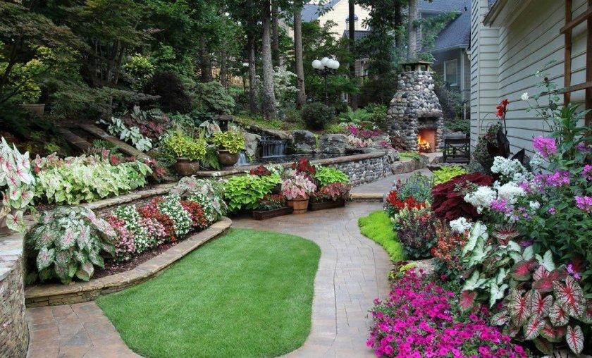 Многоуровневый сад на маленьком участке