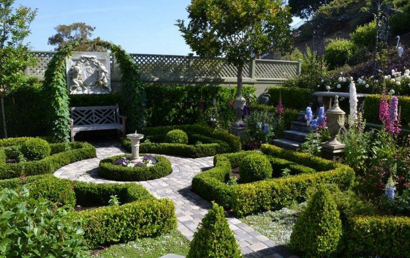 Французский садовый дизайн