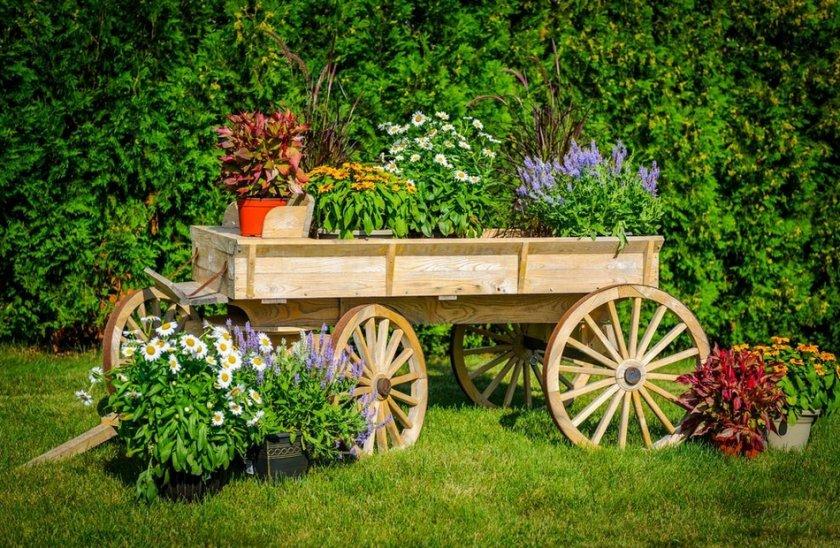 Деревенский садовый дизайн