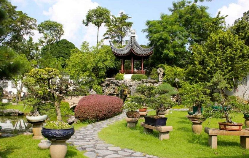 Восточный садовый дизайн
