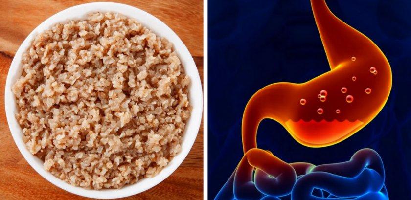 На гречневой диете болит живот