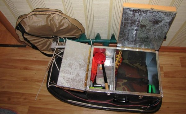 Ящик для зимней рыбалки: подготовка к работе и монтаж своими руками