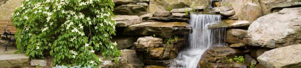 Монтаж водопадов