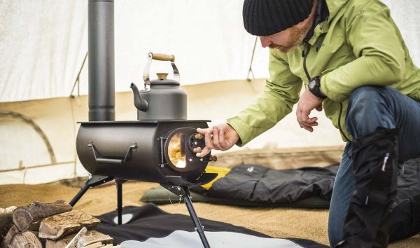 Обогрев палатки зимой. Обгорев палатки свечой, газом, печью и другие способы