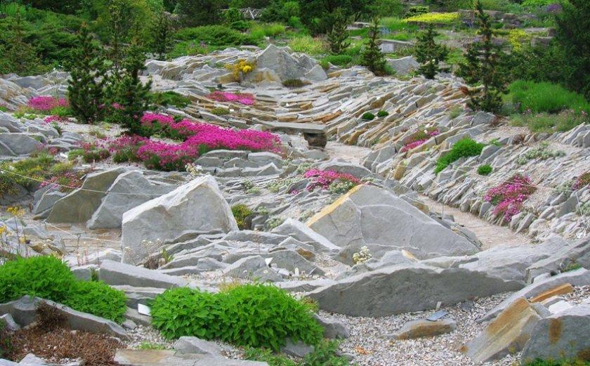 Альпинарий в форме долины