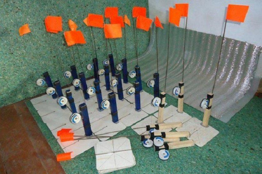 Доработка флажков в зимних жерлицах