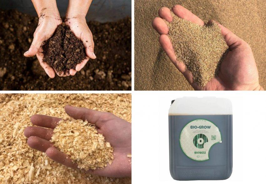 Компоненты для почвосмеси