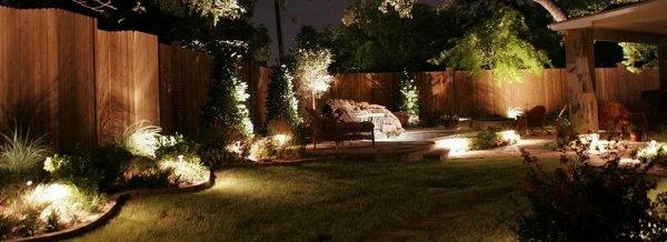 Светодиодное освещение участка