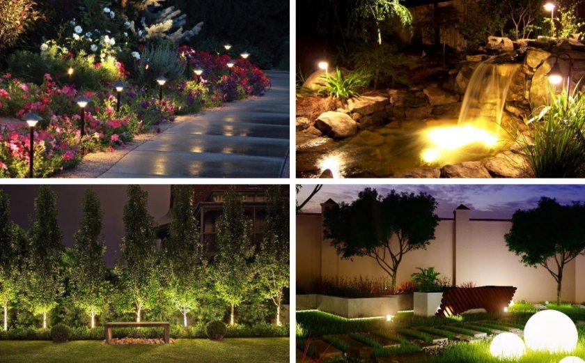 Декоративное освещение территории