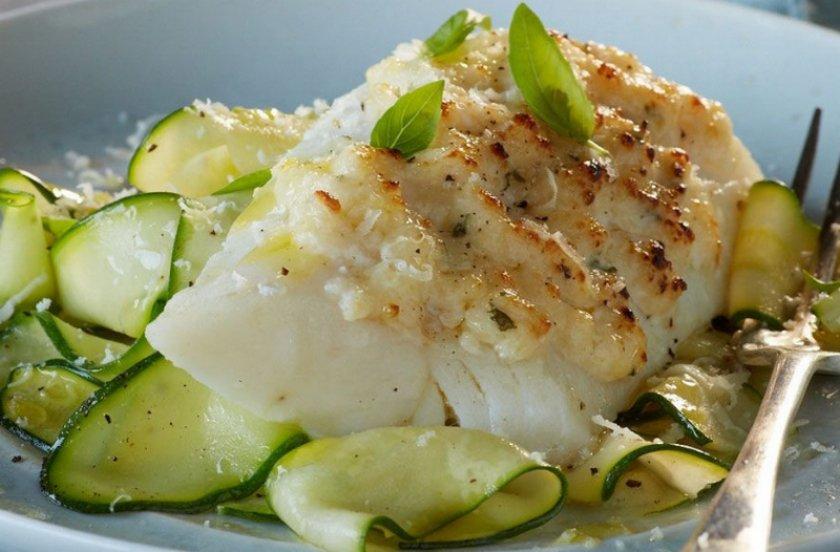 Рыба с кабачками