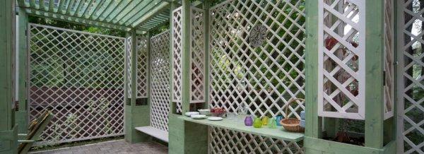 Деревянные решетки для беседки: как сделать декоративную обрешетку и сетку для беседки своими руками