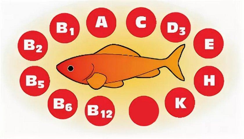 Состав витаминов в рыбе