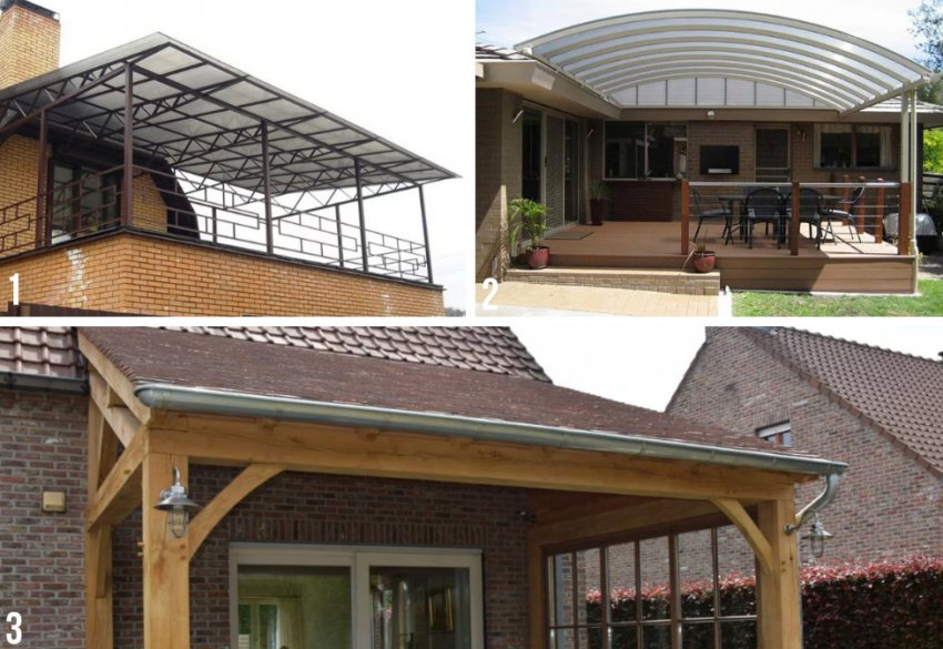 Форма крыши над террасой