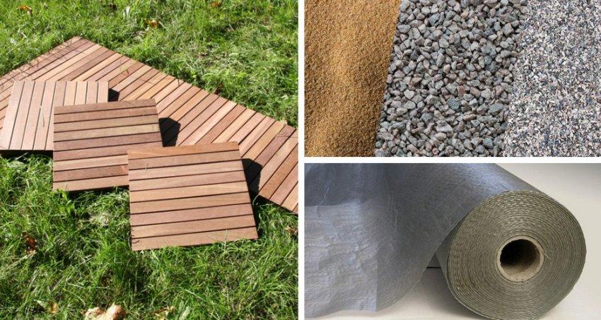 Материалы для изготовления садовых дорожек