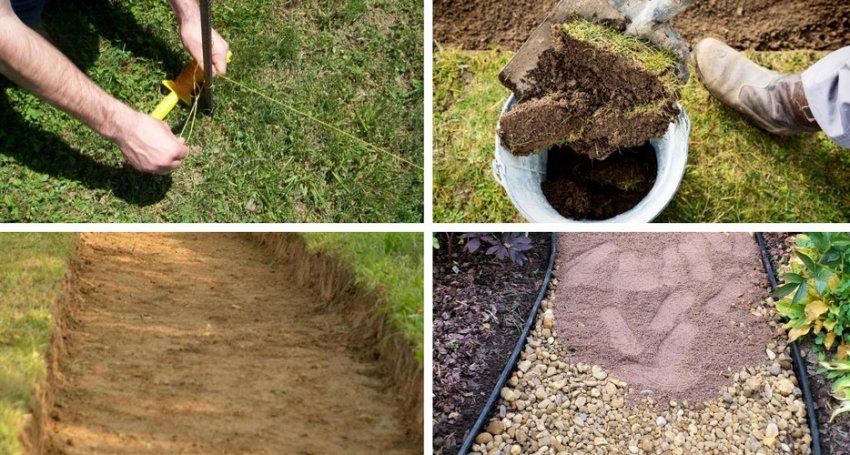 Подготовка места для садовой дорожки